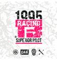Car racing emblem vector image