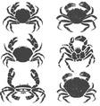 crabs set vector image