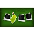 hanging christmas tree badge vector image