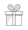 line present gift box with ribbon decoration vector image