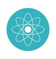 molecule atom science chemistry study vector image