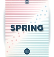 Spring retro hipster poster vector image
