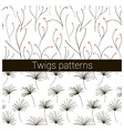 twigs patterns vector image