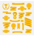 Yellow ribbons set III vector image