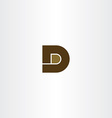 brown letter d icon logo design vector image