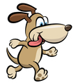 Walking dog clipart vector image