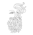 Man with beard Hipster style vector image