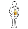 Beer drinker vector image