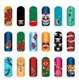 nail set tattoo vector image vector image