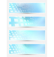Geometrical bright halftone abstract cards vector image