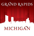 Grand Rapids Michigan city skyline silhouette vector image vector image