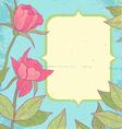 Flower vintage blue vector image vector image
