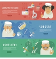 Medical health care horizontal banners vector image