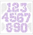 Vintage numbers set in grunge style vector image