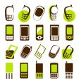 Mobile phones design elements vector image