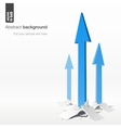 Growth arrows - success concept vector image