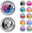 Form and pen multicolor round button vector image vector image