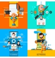 Online Education Concept Icons Set vector image