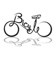 bicycle image vector image