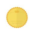 blank gold medal vintage bagde emblem graphic vector image