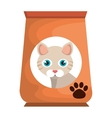 cat bag food mascot vector image