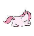 cute comic unicorn horse fantasy animal vector image