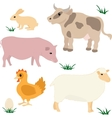 Farm animals set 1 vector image