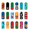 nail set tattoo vector image