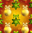 New Year ball pattern Christmas wallpaper with bow vector image