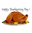 Thanksgiving day Turkey vector image