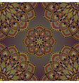 Vintage pattern of mandalas vector image