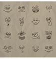 Emoticons vector image vector image