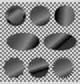 black foil label sticker set vector image