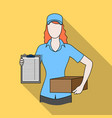 postal couriermail and postman single icon in vector image vector image