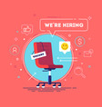 business recruiting concept vector image