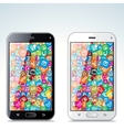 Black and White Modern Smart Phone vector image vector image