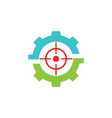 target game gear logo vector image