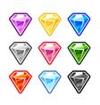Colourful Diamonds vector image
