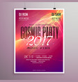 2017 happy new year party event flyer template vector image
