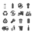 Recyclable Materials Icons Set vector image