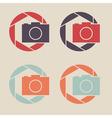 Digital camera icon Shutter icon sign logo vector image