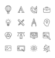 Design Line Icons vector image vector image