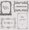 vintage frames and design elements - with place fo vector image vector image