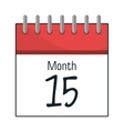 Calendar showing month and day vector image