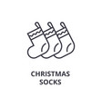 christmas socks line icon outline sign linear vector image