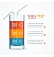 Coctail Glass Text Menu vector image
