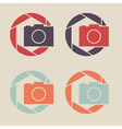 Digital camera icon Shutter icon sign logo vector image