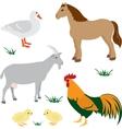Farm animals set 2 vector image