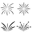 fireworks icon set vector image