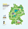 Infographic travel and landmark germany map vector image